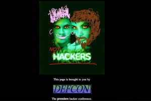Hackers movie website defaced